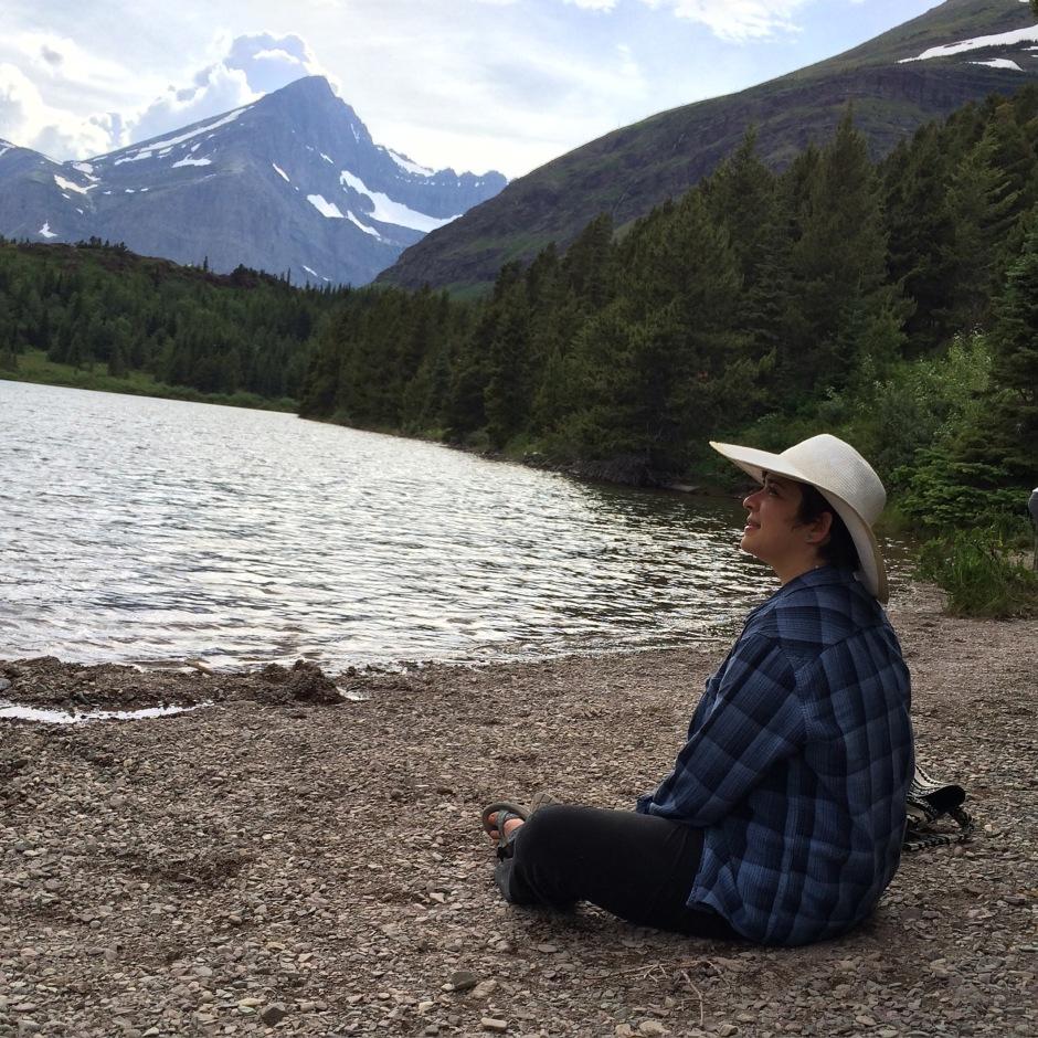 Amelia at Glacier National Park