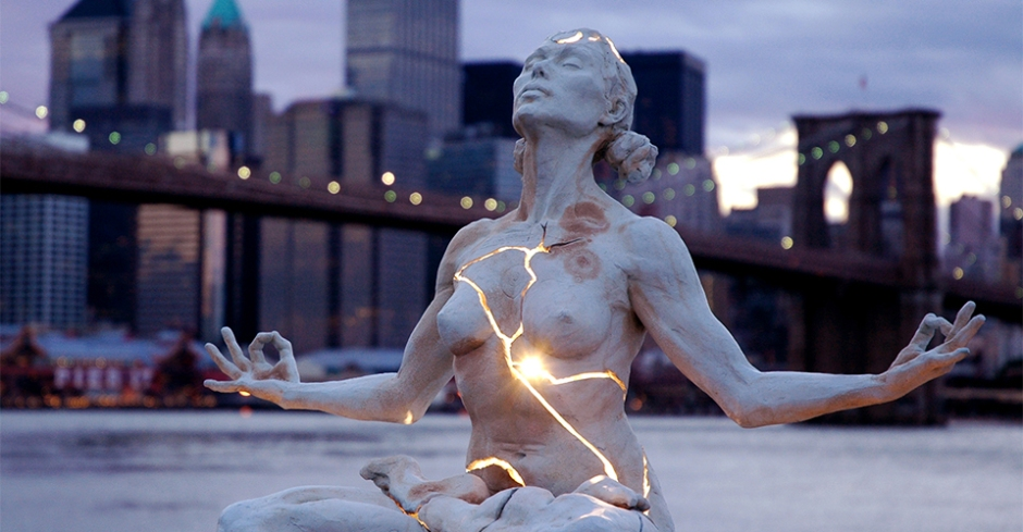 """Expansion"" sculpture in New York by Paige Bradley."