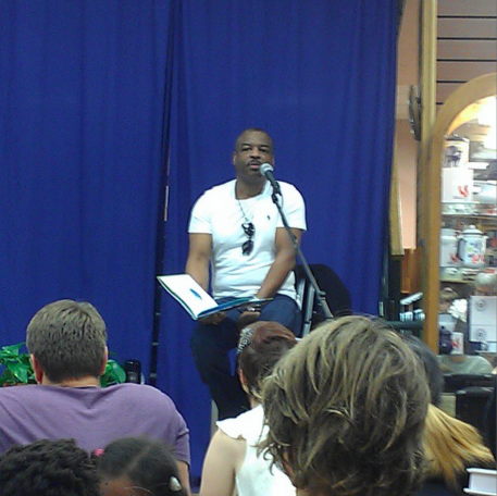 LeVar Burton speaking at Book People