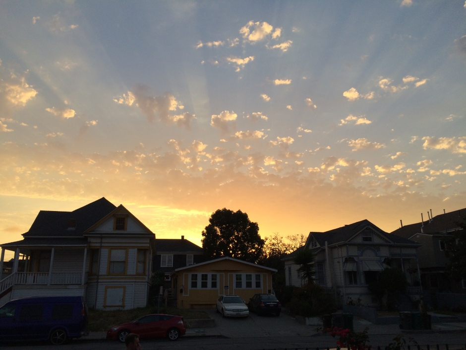 Sunset in Oakland, California