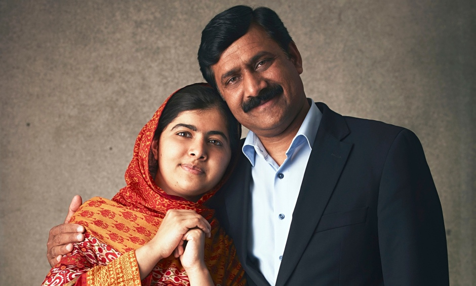 Malala Yousfzai and her Father, Ziauddin