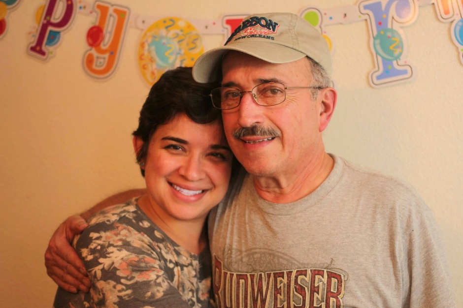 My father and I on his birthday